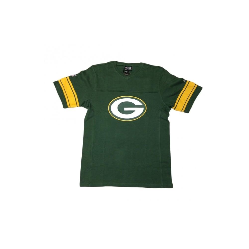 New Era NFL Green Bay Packers V Neck T-Shirt - Teams from USA Sports UK 9cf2d6844