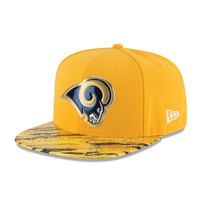 New Era NFL Los Angeles Rams 9Fifty Colour Rush On Field Original Fit Snapback Cap