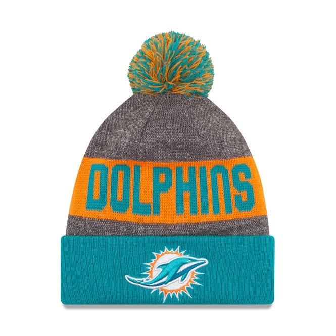 New Era NFL Miami Dolphins 2016 Sideline Official Sport Knit