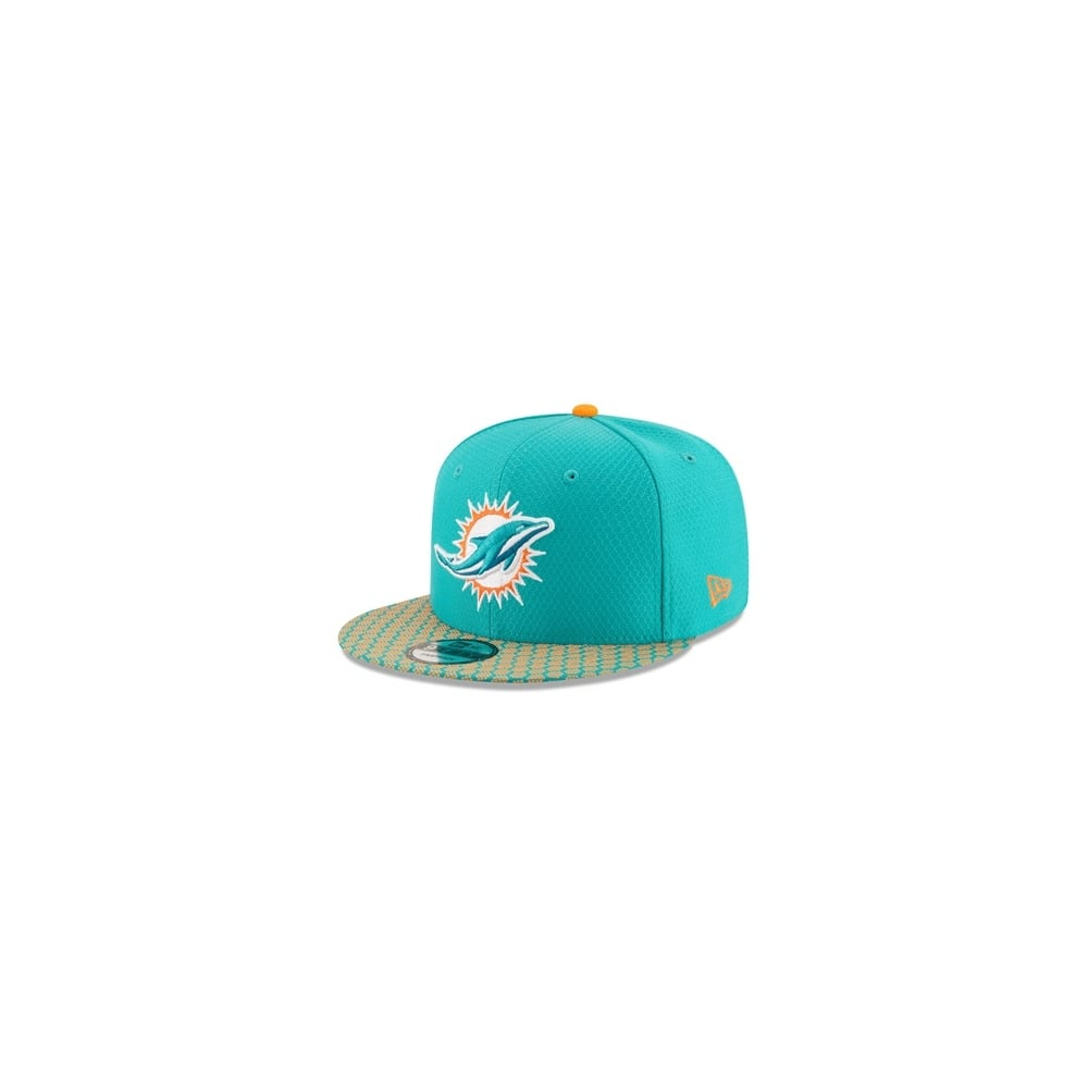 brand new f0135 0de3d NFL Miami Dolphins 2017 Sideline 9Fifty Snapback Cap