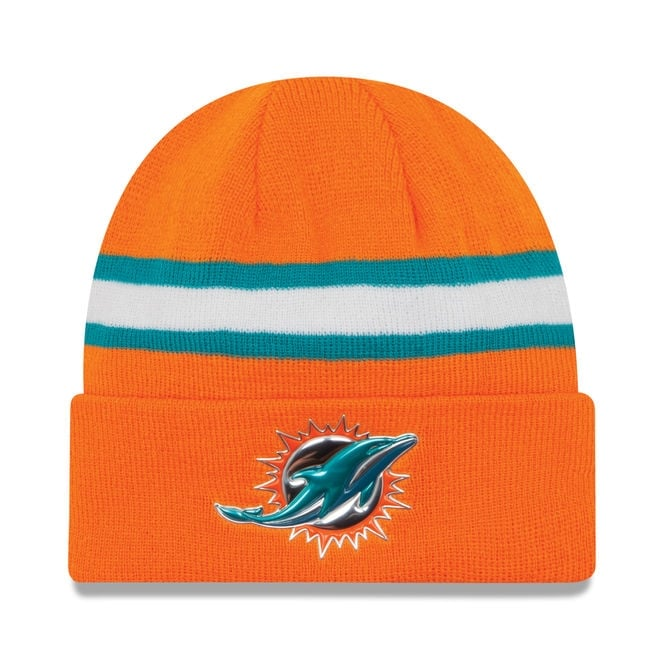 New Era NFL Miami Dolphins Colour Rush On Field Cuffed Knit