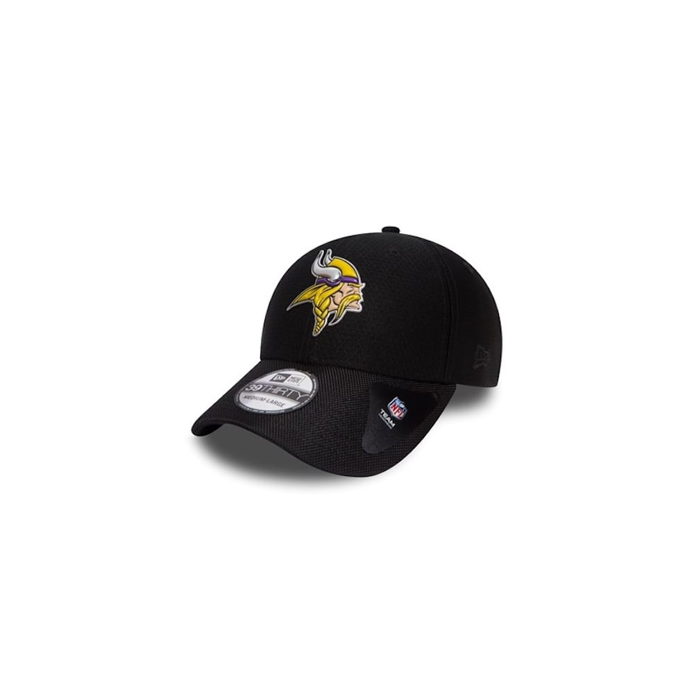 detailed look 3e77d a1206 NFL Minnesota Vikings Black Collection 39Thirty Cap