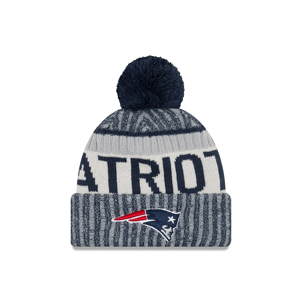 New Era NFL New England Patriots 2017 Sideline Sport Knit - Headwear ... f9984a00b393
