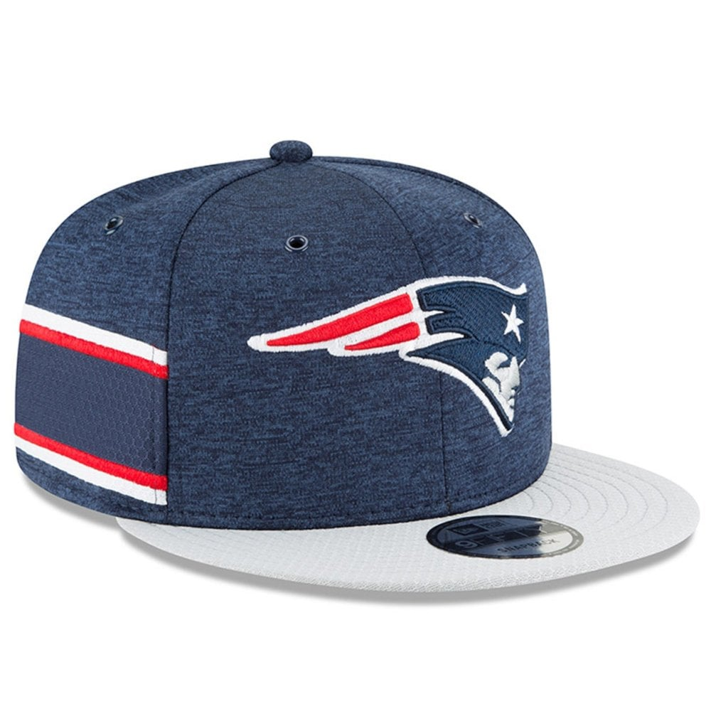 brand new b1794 6060c NFL New England Patriots 2018 Sideline 9Fifty Snapback