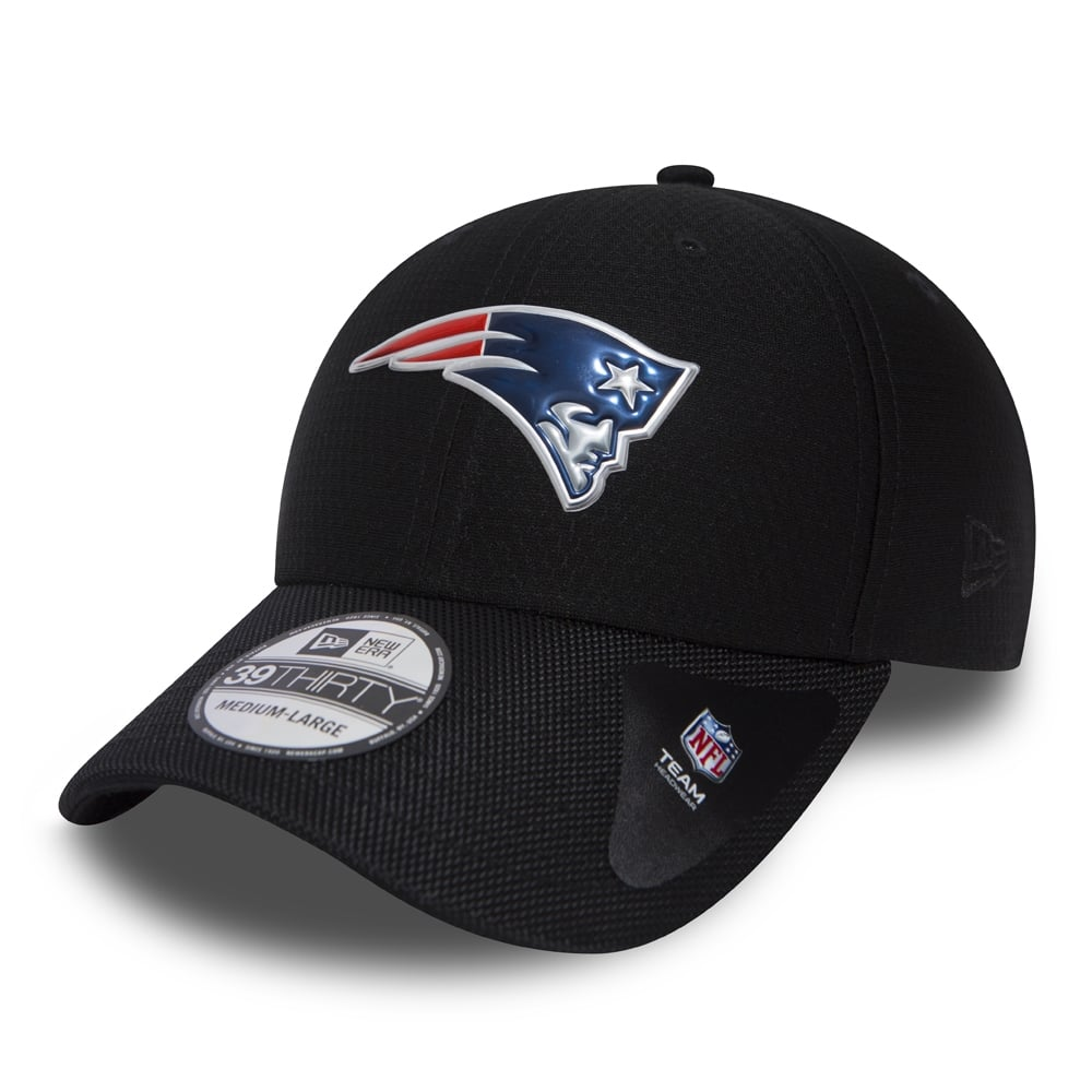 New Era NFL New England Patriots Black Collection 39Thirty Cap ... 901d7b15946