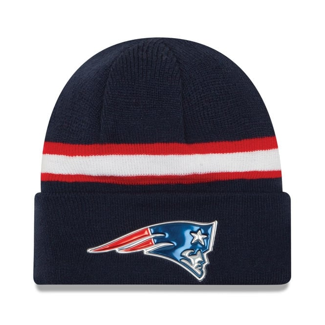 New Era NFL New England Patriots Colour Rush On Field Cuffed Knit