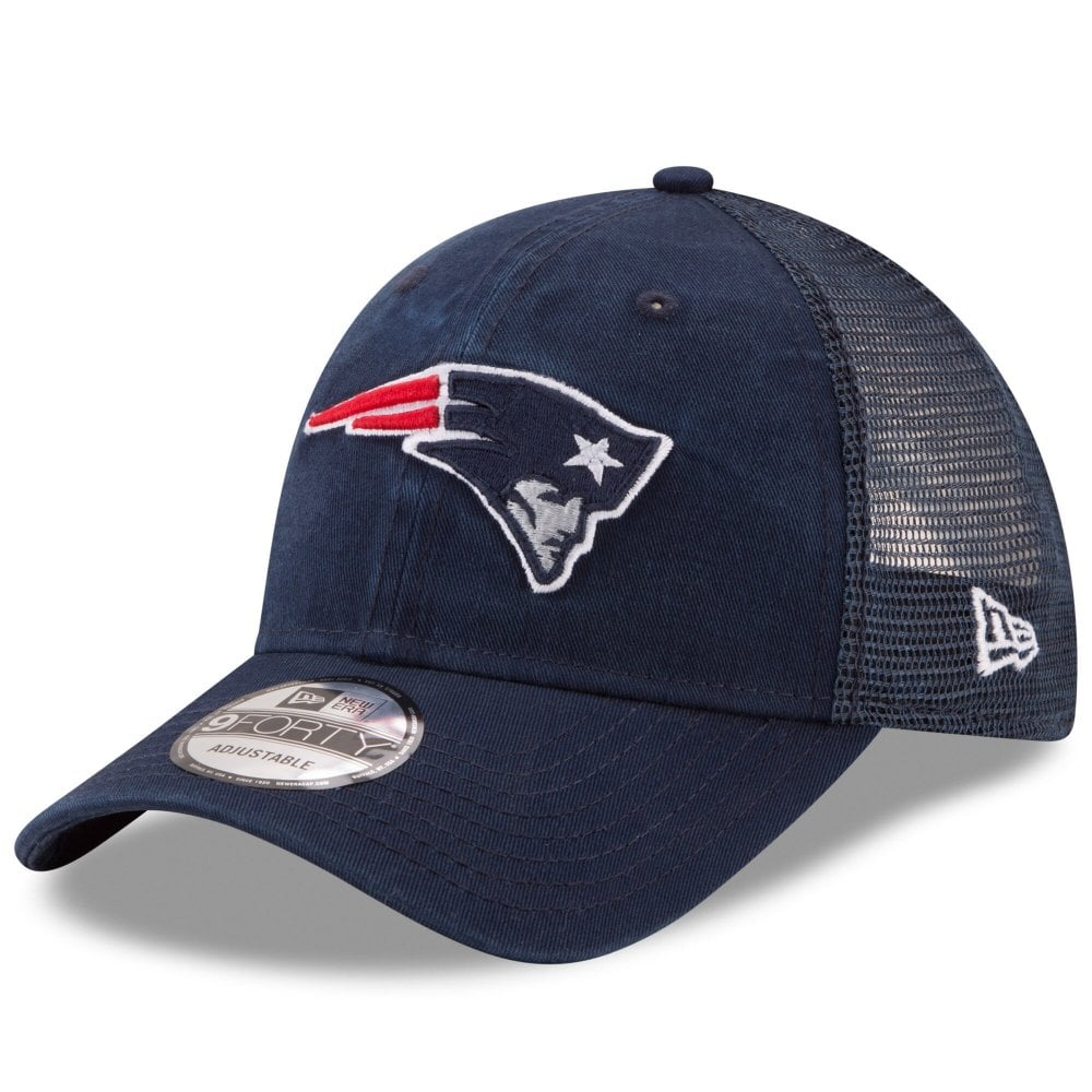 new collection exclusive deals wholesale New Era NFL New England Patriots Washed Trucker 9Forty Adjustable ...