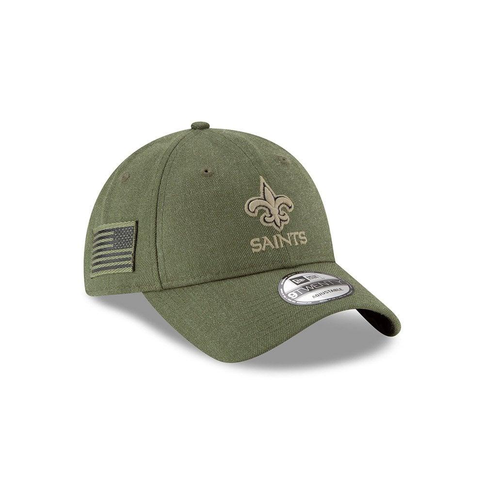 on sale d8295 5cfcb NFL New Orleans Saints 2018 Salute to Service Sideline 9Twenty Adjustable  Cap