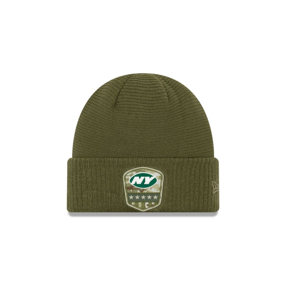New Era New York Jets Beanie On Field 2018 Salute to Service Knit
