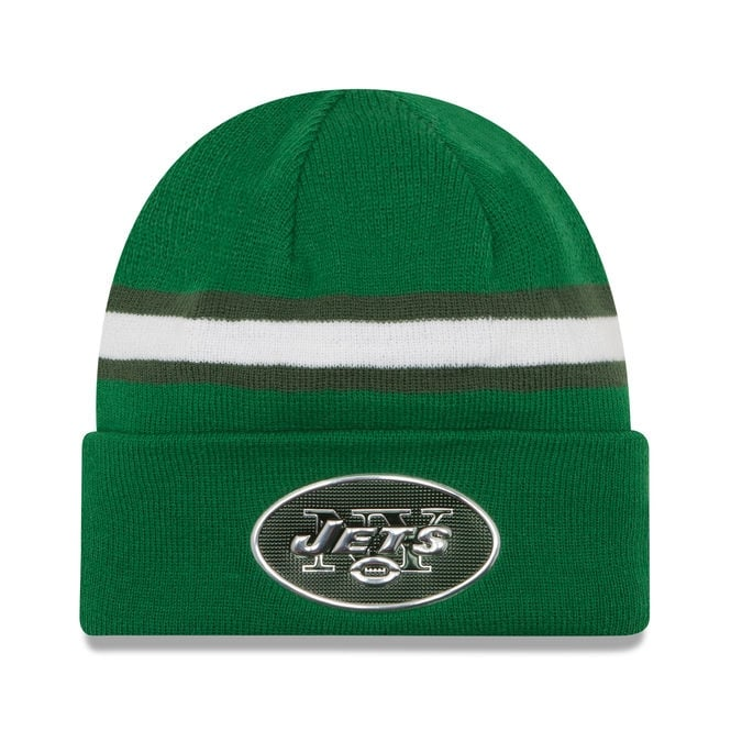 New Era NFL New York Jets Colour Rush On Field Cuffed Knit