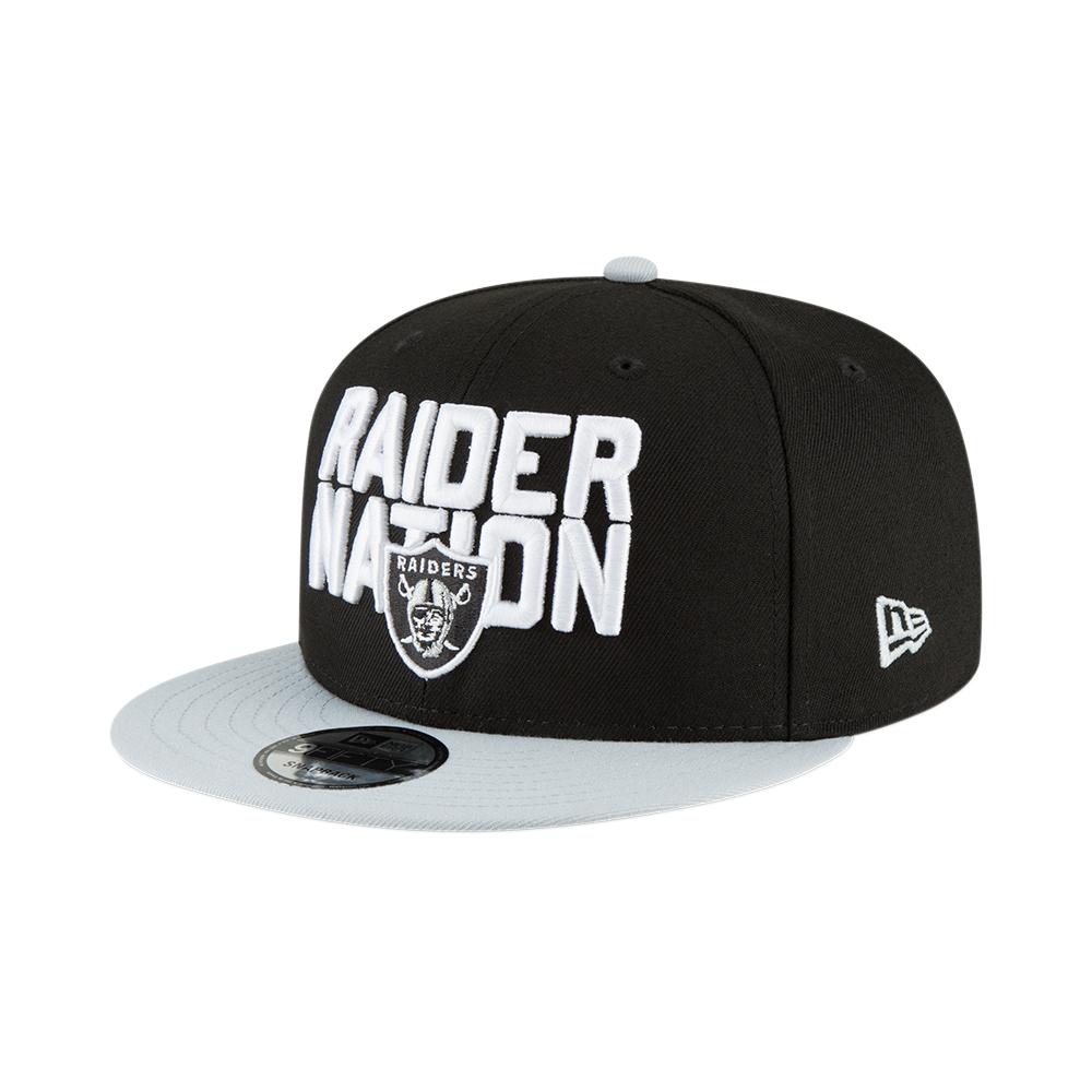 New Era NFL Oakland Raiders 2018 Draft Spotlight 9Fifty Snapback Cap ... 9d01534a17b