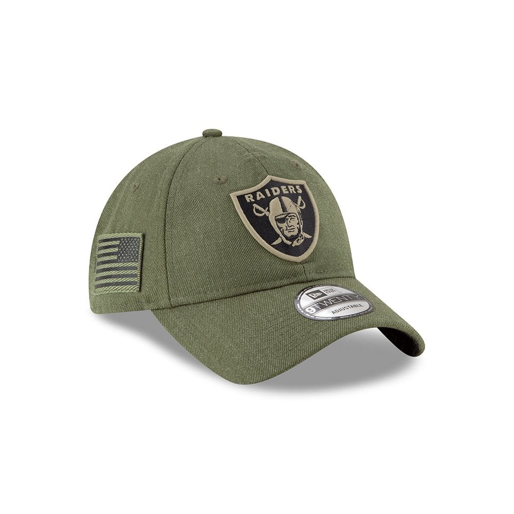 d23ff8aa342 NFL Oakland Raiders 2018 Salute to Service Sideline 9Twenty Adjustable Cap