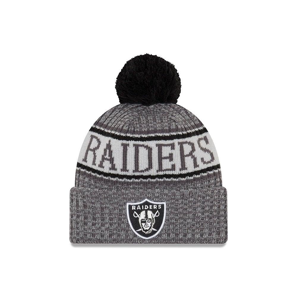 New Era NFL Oakland Raiders 2018 Sideline Graphite Sport Knit ... 1dc19bd7242a