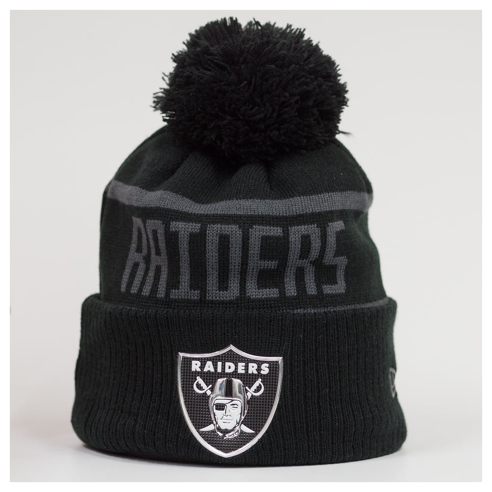 New Era NFL Oakland Raiders BC Cuffed Pom Knit - Headwear from USA ... 6d32914b9