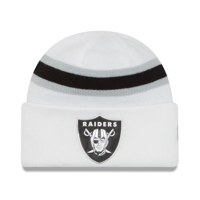 New Era NFL Oakland Raiders Colour Rush On Field Cuffed Knit
