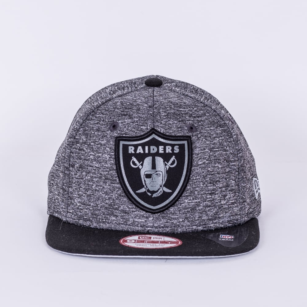 New Era NFL Oakland Raiders Grey Collection 9Fifty Snapback Cap ... dfd7582ca