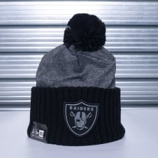 NFL Oakland Raiders Grey Collection Pom Knit