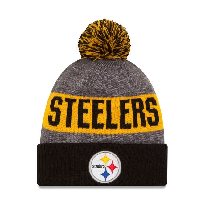 f5754af52 New Era NFL Pittsburgh Steelers 2016 Sideline Official Sport Knit ...
