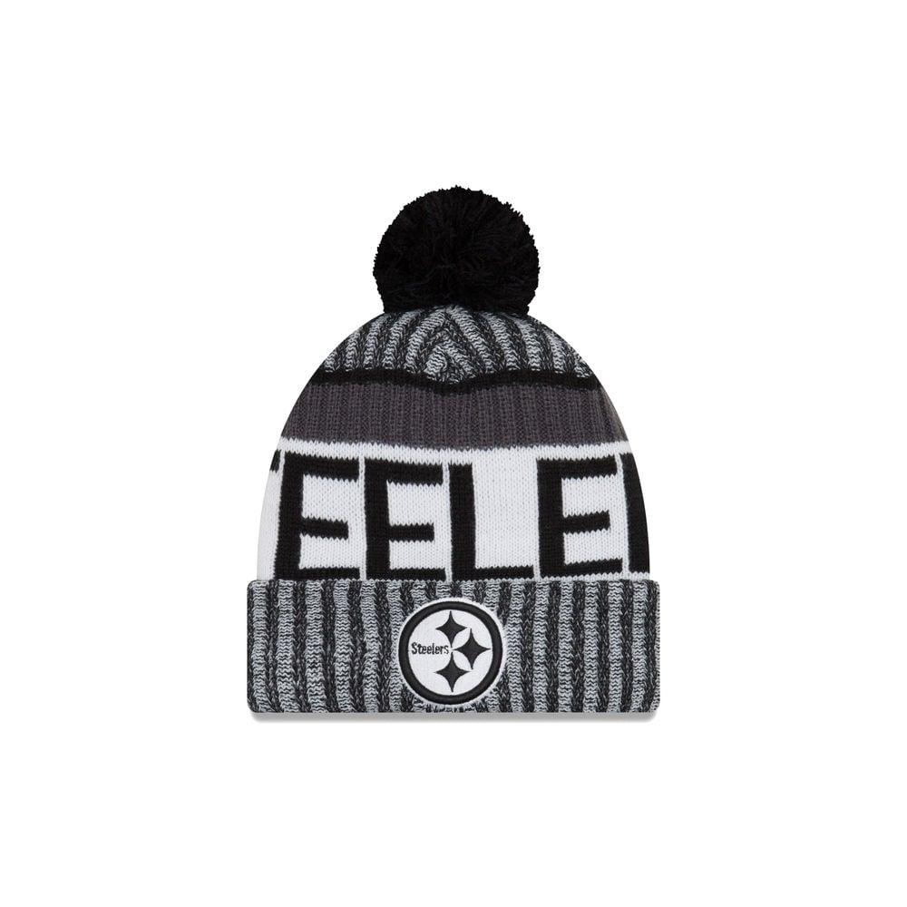 ead8ea7118f ... best hats nfl pittsburgh steelers 2017 black white sideline sport knit  0b223 7251b authentic mens pittsburgh steelers new era ...