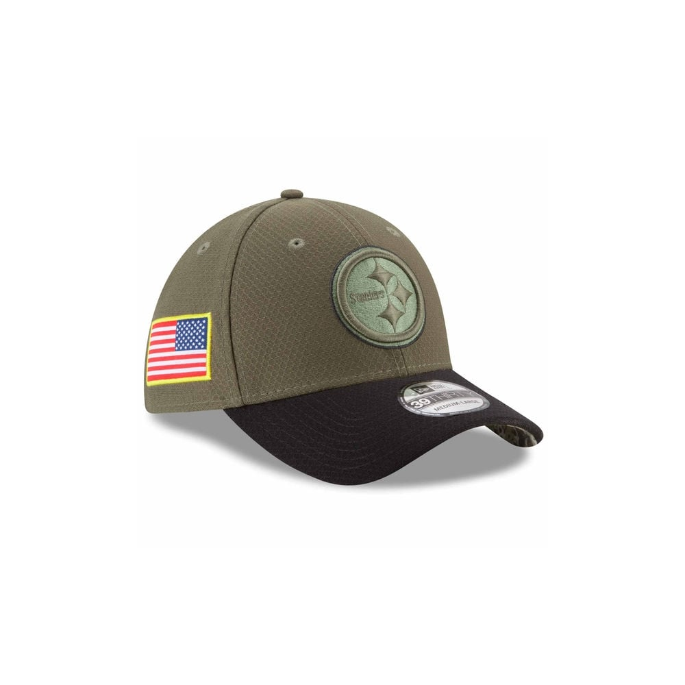 on sale 39ecf 6a1e1 NFL Pittsburgh Steelers 2017 Salute to Service 39Thirty Cap
