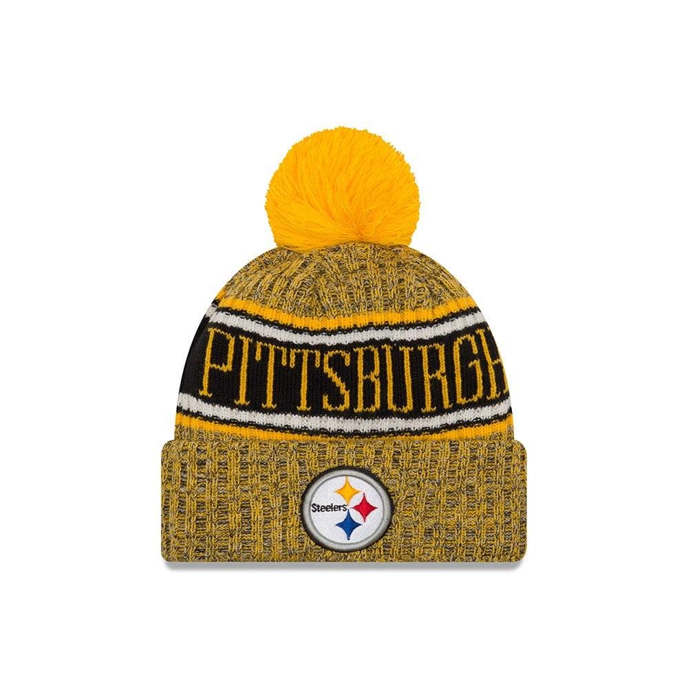 44f65d57069 New Era NFL Pittsburgh Steelers 2018 Sideline Reverse Sport Knit ...