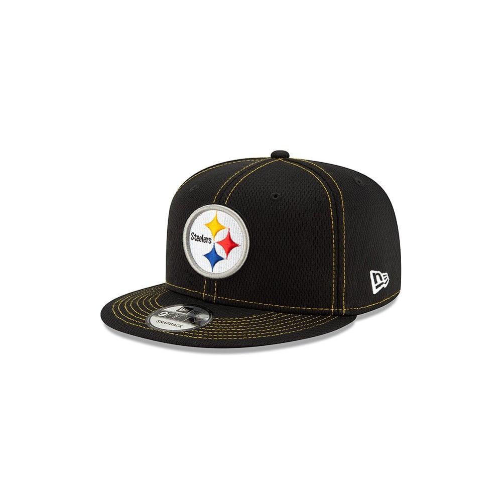 f4a856c2 New Era NFL Pittsburgh Steelers 2019 Sideline Road 9Fifty Snapback