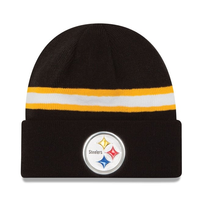 New Era NFL Pittsburgh Steelers Colour Rush On Field Cuffed Knit