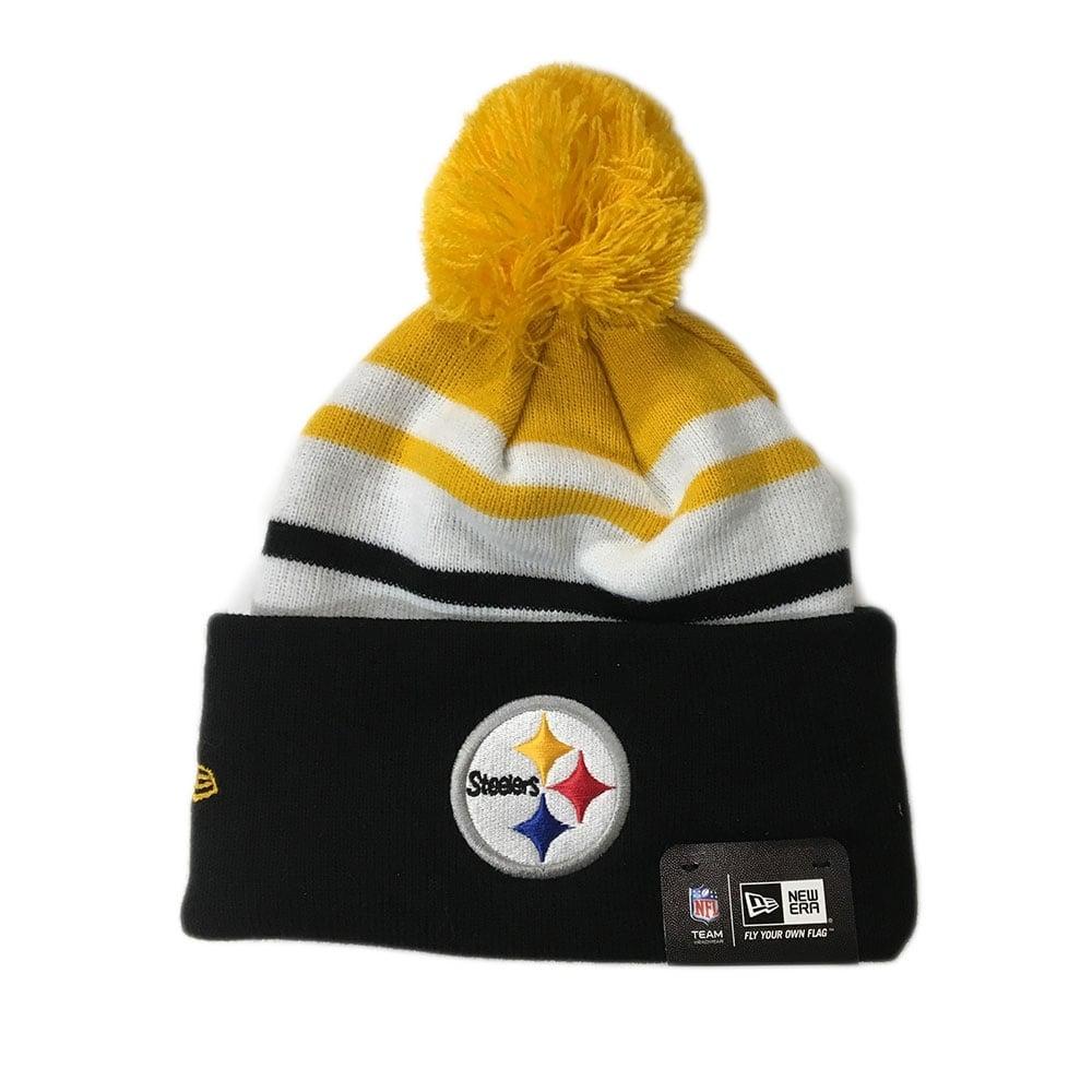 New Era NFL Pittsburgh Steelers Word Block Pom Knit - Headwear from ... 9f2e6c687