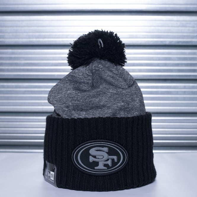 New Era NFL San Francisco 49ers Grey Collection Pom Knit