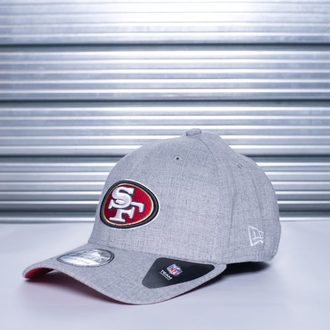 New Era NFL San Francisco 49ers Wings 39Thirty Heather Stretch Fit Cap