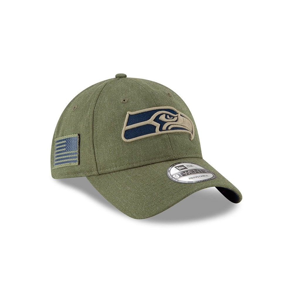 NFL Seattle Seahawks 2018 Salute to Service Sideline 9Twenty Adjustable Cap a33c0f7a1