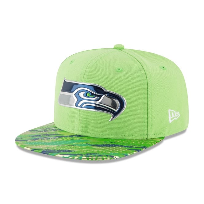 New Era NFL Seattle Seahawks 9Fifty Colour Rush On Field Original Fit Snapback Cap