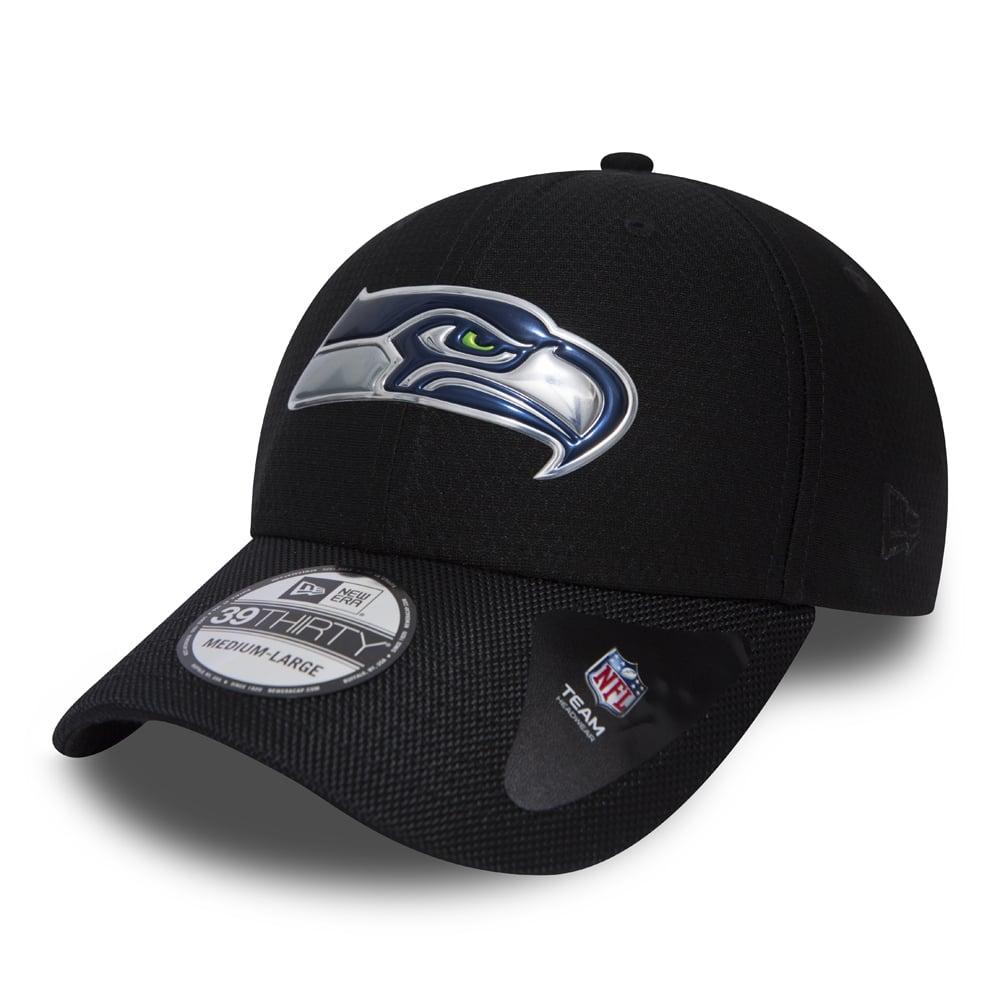 53b98e17214 New Era NFL Seattle Seahawks Black Collection 39Thirty Cap - Teams ...