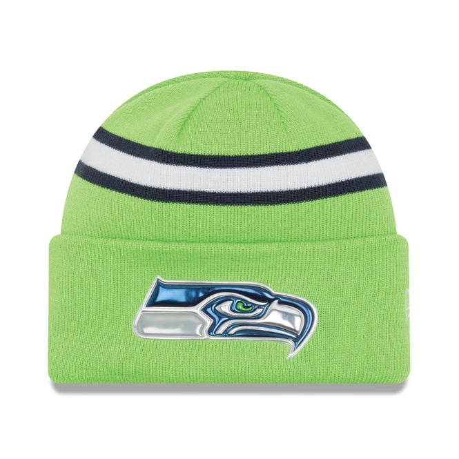 New Era NFL Seattle Seahawks Colour Rush On Field Cuffed Knit