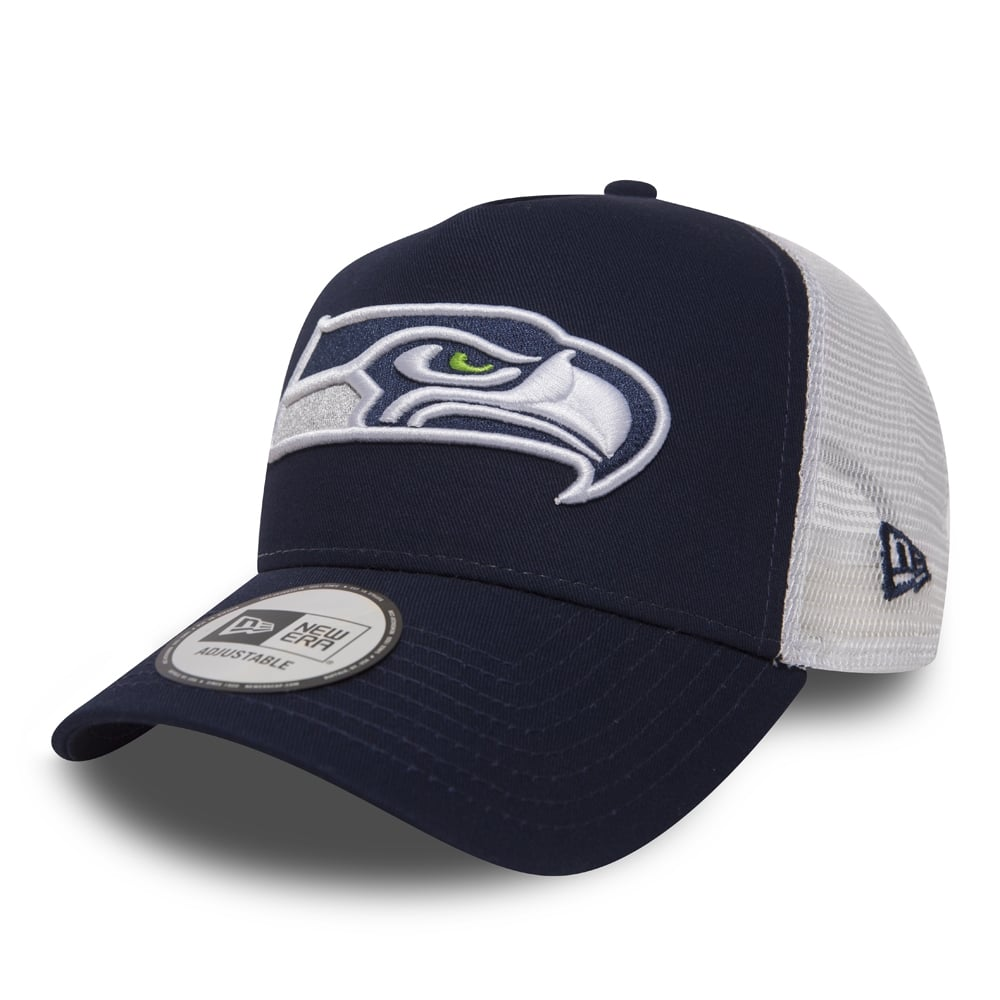 New Era NFL Seattle Seahawks Essential A Frame Trucker Cap - Teams ... 2eac7e6332fb