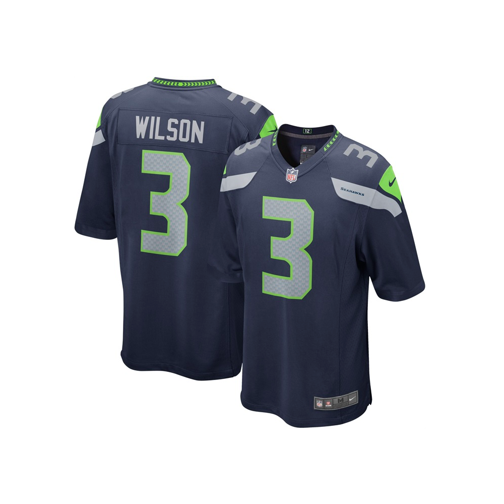 New Era NFL Seattle Seahawks Home Game Jersey - Russell Wilson ... 8c0d3710f