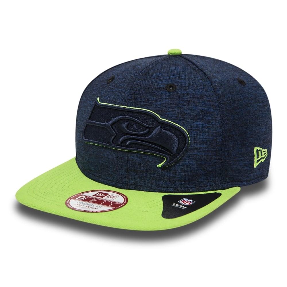 4b19602104c9 New Era NFL Seattle Seahawks Sports Jersey 9fifty Snapback Cap ...