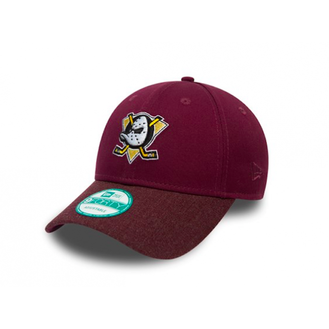 New Era NHL Anaheim Ducks Team Heather 9Forty Adjustable Cap