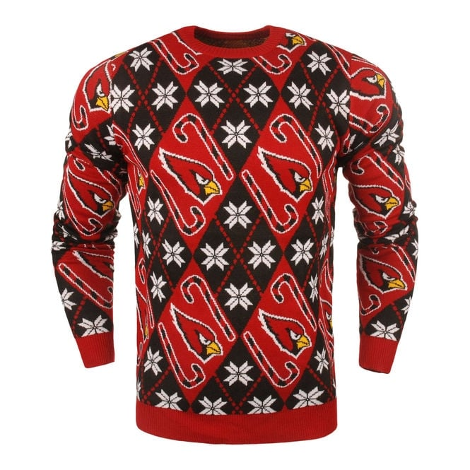 Forever Collectibles NFL Arizona Cardinals Candy Cane Ugly Sweater