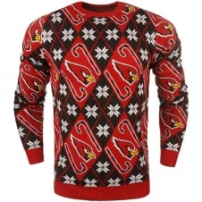 NFL Arizona Cardinals Candy Cane Ugly Sweater
