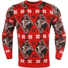 NFL Atlanta Falcons Candy Cane Ugly Sweater