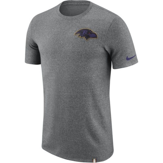 aa82250d Nike NFL Baltimore Ravens Marled Patch Dri-Fit T-Shirt - Teams from ...