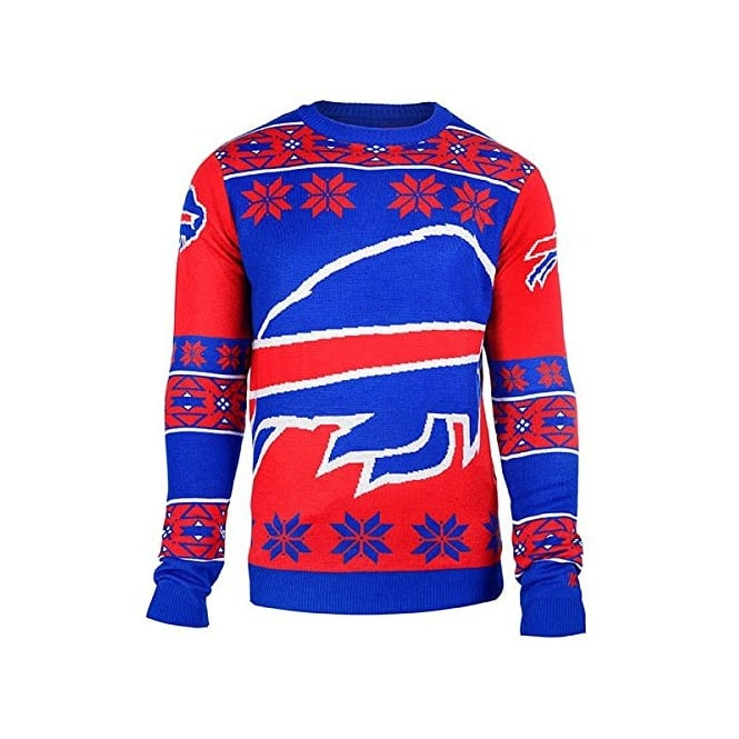 Forever Collectibles NFL Buffalo Bills Big Logo Ugly Sweater