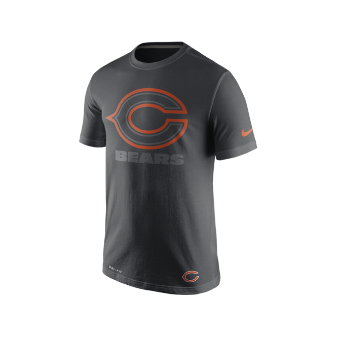 Nike NFL Chicago Bears Anthracite Travel T-Shirt