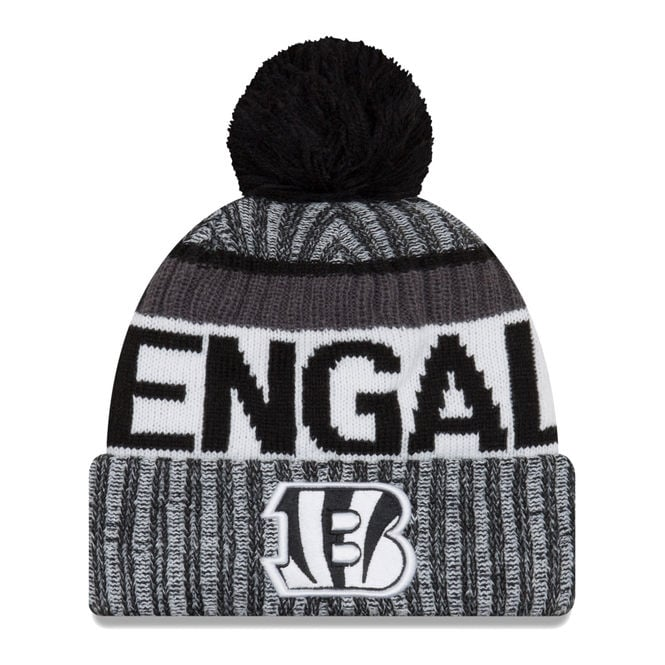 New Era NFL Cincinnati Bengals 2017 Black/White Sideline Sport Knit