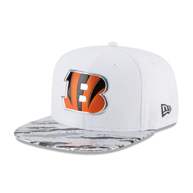 New Era NFL Cincinnati Bengals 9Fifty Colour Rush On Field Original Fit Snapback Cap