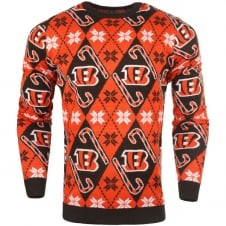 NFL Cincinnati Bengals Candy Cane Ugly Sweater