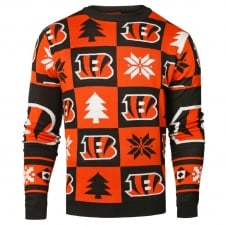 NFL Cincinnati Bengals Patches Ugly Sweater