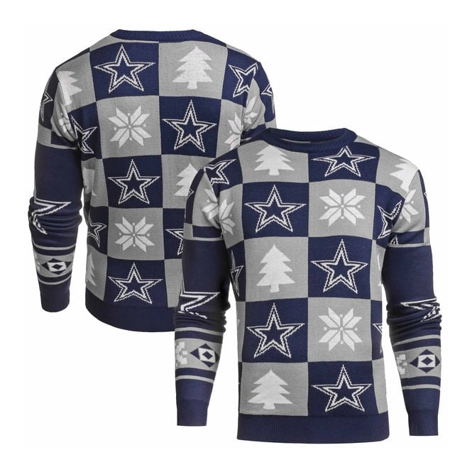 Forever Collectibles NFL Dallas Cowboys Patches Ugly Sweater