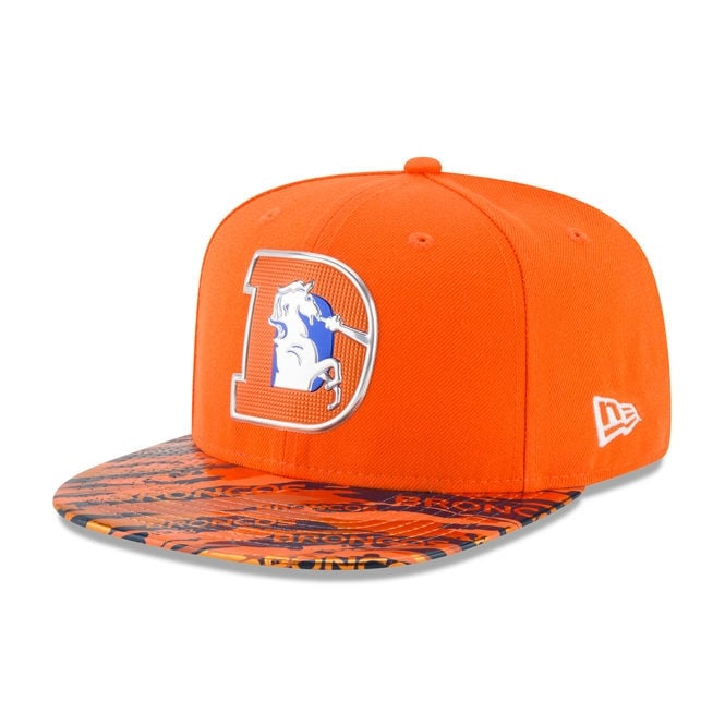 New Era NFL Denver Broncos 9Fifty Colour Rush On Field Original Fit Snapback Cap
